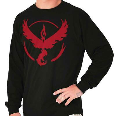 Team Valor Pokemon Shirt | Go Red Moltres Pikachu Gamer Nerd Long Sleeve T Shirt