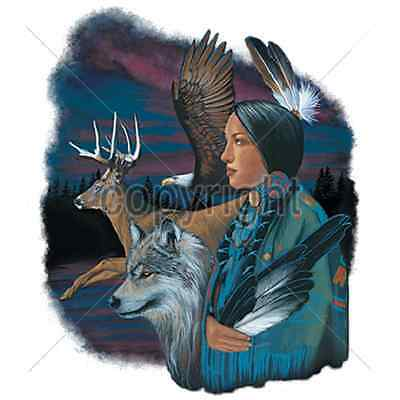 Native American, Wolf & Deer T Shirt & Tank Tops All Sizes & Colors (549)