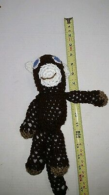 Amigurumi crochet monkey doll stuffed toy handmade crocheted