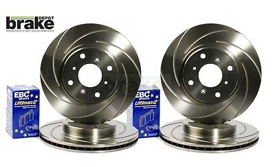 Astra VXR Brake Discs Swirl Grooved with EBC Ultimax Pads 240hp Front & Rear