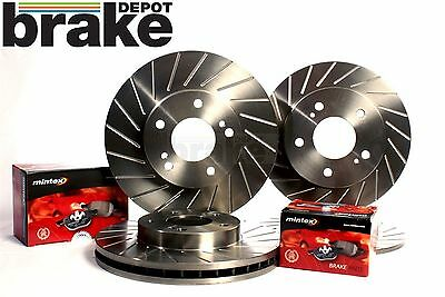 Fiesta ST180 Front Rear Brake Discs Evora Performance Slotted & Mintex Pads