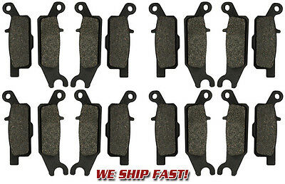 (8 Sets) Yamaha Front + Rear Brake Pads Grizzly YFM 550 & 700 (2007-2015) NEW