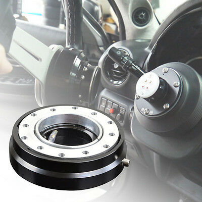 Black Smart Quick Release Hub Snap Off Boss Kit FIT MOMO OMP Steering Wheel NEW