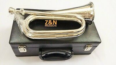 Brass British Army Bb Bugle Tuneable Quality Heavy Gauge Materials + Hard Case