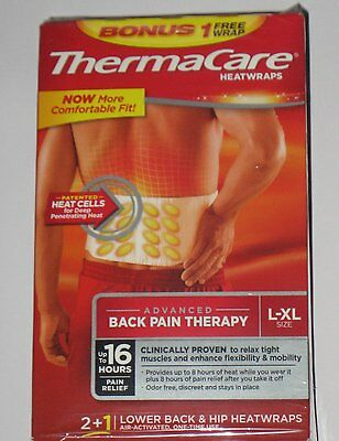 ThermaCare HeatWraps - Lower Back & Hip L/XL Large & Extra Large - 3 Wraps