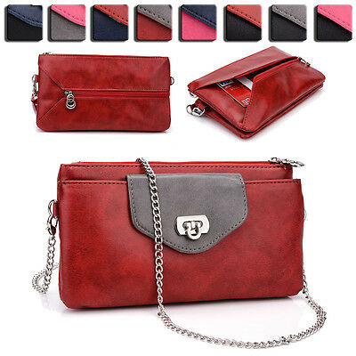 Womens Fashion Smart-Phone Wallet Case Cover & Crossbody Purse EI65-9