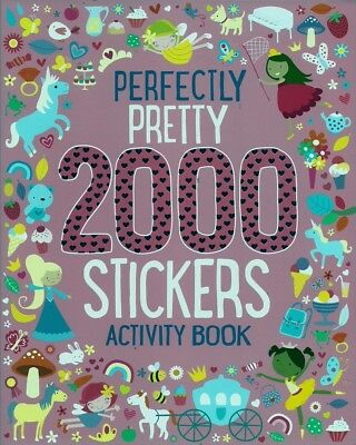 2000 Stickers Pink, New, Parragon Book
