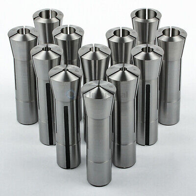 "12 Pc R8 Collet Set 1/8"" to 7/8"" Fractional High Precision for Bridgeport"