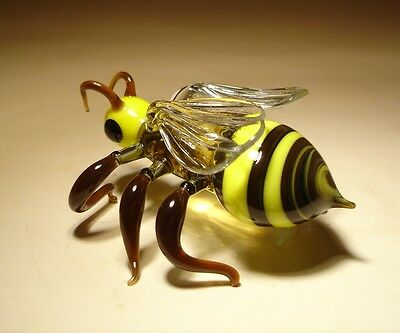 "Blown Glass ""Murano"" Art Animal Figurine Insect Striped BEE"