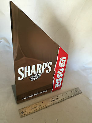"Miller Sharp's Non-Alcoholic Beer ""Keep Your Edge"" Mirror Sign 8.5"" x 14.5"""