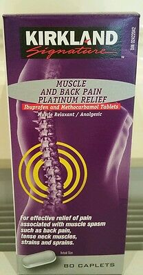 Kirkland Muscle and Back Pain Platinum ×3 Total 240 caplets exp February 2018