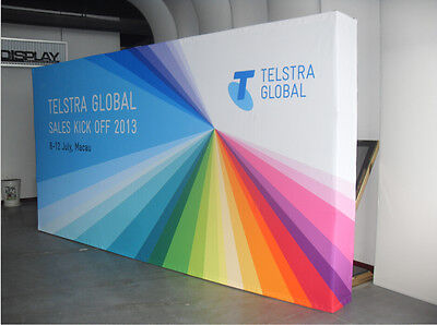 10ft Straight Booth Tension Fabric Display Wall / trade show backdrop stand