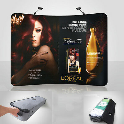 10ft Curved Exhibition Trade Show Display Pop Up Booth & Graphic & travel case