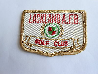 Cool Vintage Lackland AFB Air Force Base Golf Club Golfing Military Cloth Patch