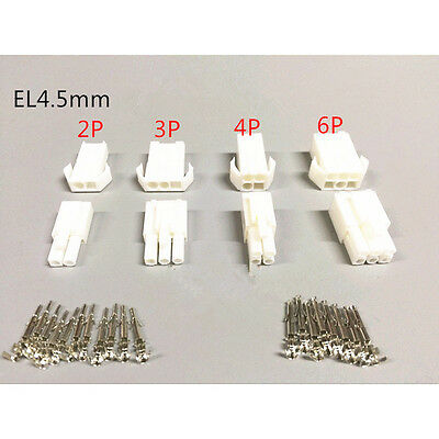 10PCS 2P EL-2P/3P/4P/6P Small Tamiya connector Set 4.5MM Male & Female with Pins
