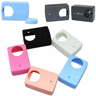 New Silicone Protective Case Cover + Lens Cap For Xiaomi YI 4K Action Camera 2
