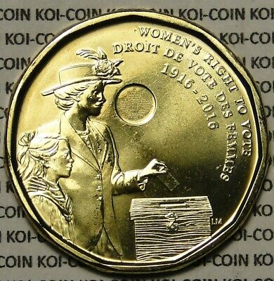 BU Canada 2016 Women's Right to Vote Centennial 1916-2016 $1 dollar loonie coin
