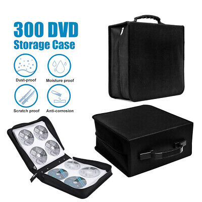 Bluray Storage Holder Solution Binder Book Sleeves Carrying Case 400 Disc CD DVD