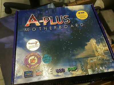 A-Plus AP-940 Motherboard Pentium Socket 7 New In Box Cables CD