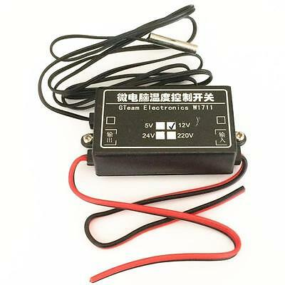 1*DC 12V W1711 Microcomputer Temperature Control Adjustable Switching Thermostat