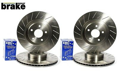 Leon FR (170) Front and Rear 40G Grooved Brake Discs with EBC Ultimax Brake Pads