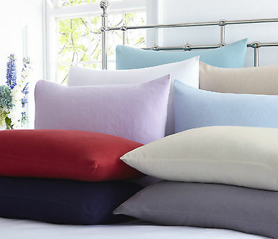 100% Soft Brushed Cotton Fitted Sheet Or Pillowcases Thermal Warm Extra Deep New