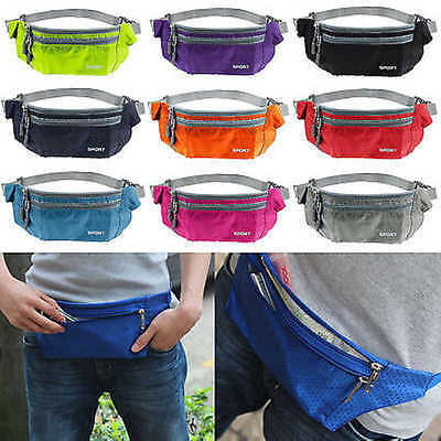 Waterproof Running Belt Bum Waist Pouch Fanny Pack Camping Sport Hiking Zip Bag