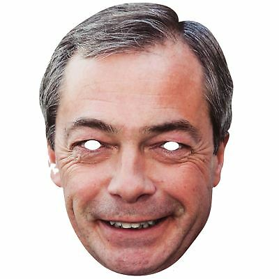 Maskarade Nigel Farage UKIP Leader Politician Card Face Mask