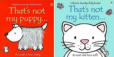 NEW BOX USBORNE THAT'S NOT MY KITTEN and PUPPY board books TOUCHY FEELY