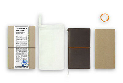 Midori Traveler's Notebook - Starter Kit Brown (brun)