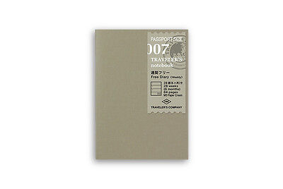 Midori Traveler's Notebook Passport size - 007. Free Diary Week - PP