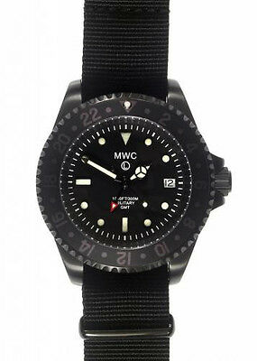 MWC GMT Dual Timezone Military Watch in Black PVD Steel