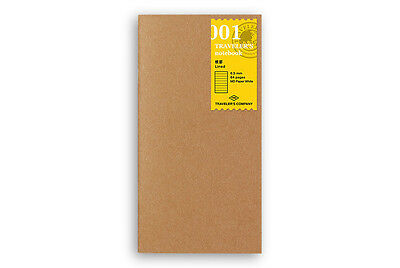 Midori Traveler's Notebook - 001. Lined Notebook Refill