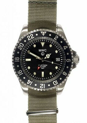 MWC GMT Dual Timezone Military Watch in Stainless Steel