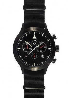 MWC MIL-TEC MKVI PVD Stainless Steel Military Pilots Chronograph