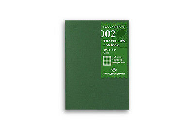Midori Traveler's Notebook Passport size - 002. Grid Refill MD Passport Size