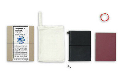 Midori Traveler's Notebook Passport size - Starter kit Black (noir)