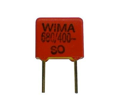 Lot of 3 Wima FKP-2 Capacitor 680pF 400V 5%