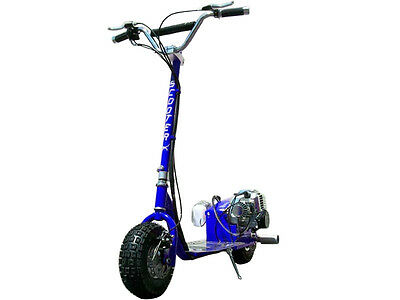 ScooterX Blue Racing GO FAST Motor Scooter 49CC GAS Powered Big Power