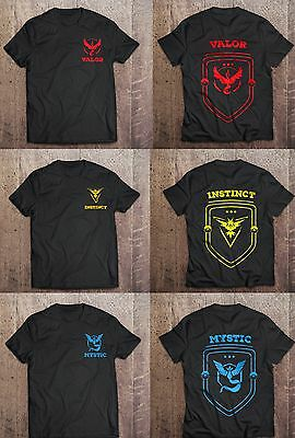 Pokemon Go Team Valor / Mystic / Instinct T-Shirts PREMIUM 'AS COLOUR' Branded