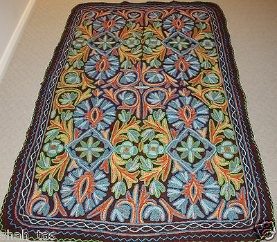Persian Kashmir Hand Made Wool Rug Wall Hanging Home Room Large Floor Antique