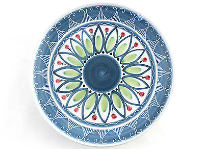 A large hand painted Elle of Norway bowl. Mid century style. 1960's 70's