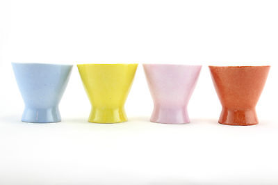 4 x multi-coloured Rosenthal 'Form 2000' egg cups. German design. Modernist