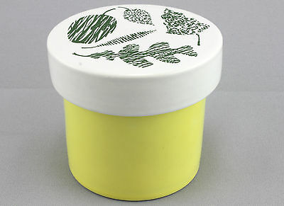 A vintage 1960's Poole pottery storage jar by Robert Jefferson. Yellow & white.