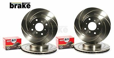 Mazda MX5 1.8 Front and Rear Swirl Grooved Evora Brake Discs and Mintex Pads