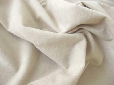 Faux Suede Suedette 100% Polyester Fabric Materia 170g - CREAM