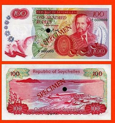 Seychelles 100 Ruppes 1977. UNC - Reproduction