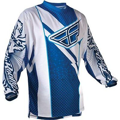 Fly Racing F-16 Motocross/Dirt-Bike Jersey (Blue-White) XL