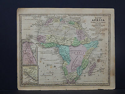 Antique Map 1839 Smith's Geography, Africa