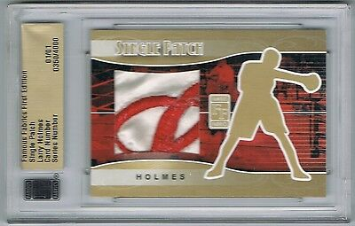 2010 Famous Fabrics First Edition Patch Gold Larry Holmes Robe 1/1 !!